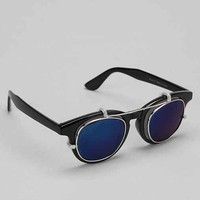 Clip Round Sunglasses - Black One