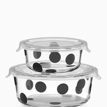 deco dot 4pc round food storage containers | Kate Spade New York