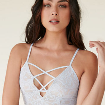 LA Hearts Secret Keeper Lace Crisscross Front Bralette at PacSun.com