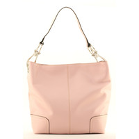 New Tosca Handbag, Purse Bucket Style Shoulder Bag Leather Look, 641 Color Pink