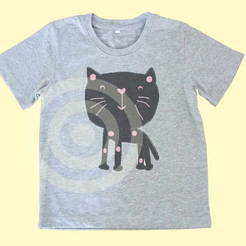 Cat shirt Boy Girl tshirt  ~Animal tshirt -Children shirt Kids tshirts -Cool Kids Tshirt