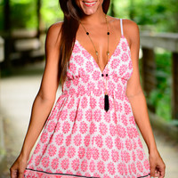 Living On The Edge Dress, Pink