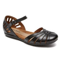 Cobb Hill Black Irene Leather Sandal | zulily