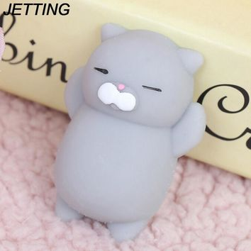 Dropshipping Cute Mochi Squishy Cat Seal Rabbit Squeeze Fun Kids Kawaii Adult Toy Stress Reliever Phone Strap for Phone Case