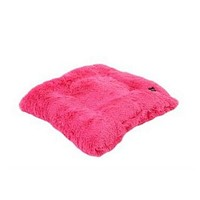 Square Pillow Bed — Hot Pink Shag