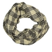Two-Tone Infinity Scarf Beige » West Of Camden