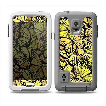 The Yellow Butterfly Bundle Skin for the Samsung Galaxy S5 frē LifeProof Case