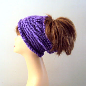 Knit Bright Purple Head Band Cowl Rasta Dreadlock Head Wrap Yoga Fitness Workout Scarf Earwarmer Women Men Fall Winter Fashion Accessories