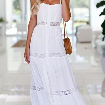 Fashion Women White Backless Maxi Dress Bow Tied Rope 2018 Summer Beach Party Holiday Dresses Sexy Hollow Out Dress Vestidos