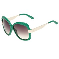 Linda Farrow Luxe Snakeskin Wrapped Sunglasses