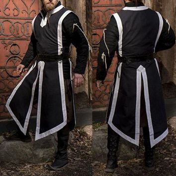New 2019 Medieval Night Wear Period Clothing Cosplay Costumes Mens Noble Uniform Sleeveless Top Robes Performance Costumes Male