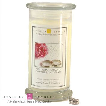 Congratulations On Your Wedding ! - Jewelry Greeting Candles