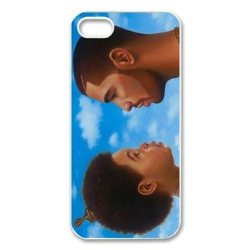 Drake Plastic Case/Cover FOR Apple iPhone 5/5s, Hard Case Black/White