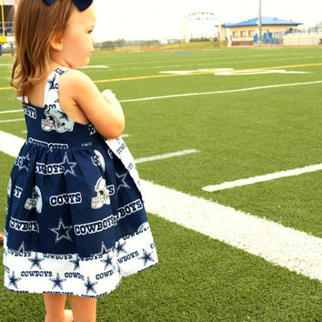 Dallas Cowboys Dress, Dallas Cowboys Knot Dress, Football themed dress, NFL Dress, Texas Dress, Cowboys Dress, Cowboys Football Dress