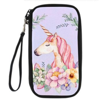 Unicorn Clutch Wallet (content unicorn in garden)