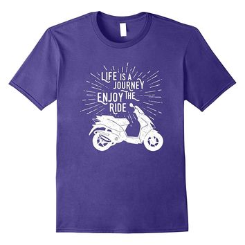 Life Is A Journey Enjoy The Ride Motorcycle T-Shirt