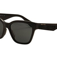 MIU MIU Sunglasses MU 06RSA 1AB1A1 Black 57MM
