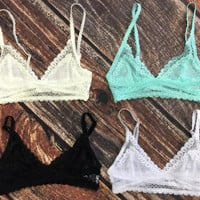 Divine Lace Bralette: Multiple Colors