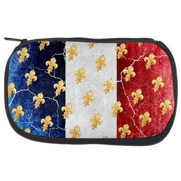 French Flag Grunge Distressed Fleur De Lis Travel Bag