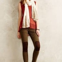 Pilcro Patched Moto Leggings Washed Olive