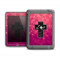 The Love is Patient Cross over Unfocused Pink Glimmer Apple iPad Mini LifeProof Fre Case Skin Set