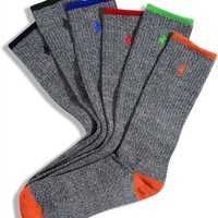 Polo Ralph Lauren Men's Socks, Athletic Crew 6 Pack