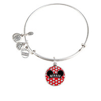 Minnie Mouse Bangle with Enamel Charm by Alex and Ani - Silver