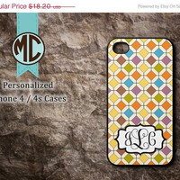 ON SALE iPhone 4 Case - iPhone case - Monogram iPhone case - iPhone 4s case - iPhone cover - MC043
