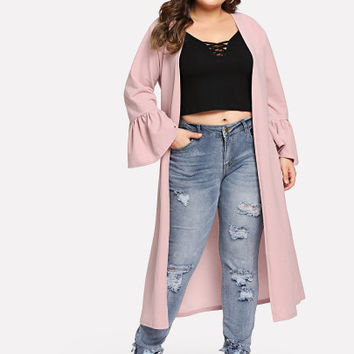 Bell Sleeve Duster Coat