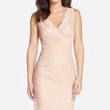 Women's Tadashi Shoji Mixed Media Sheath Dress
