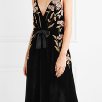 Altuzarra - Lisabetta embellished embroidered velvet dress