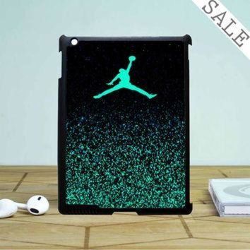 CREYUG7 Nike Air Jordan Jump Mint Glitter iPad 4 | 5 Case