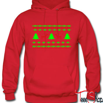 ugly christmas sweater deer design hoodie