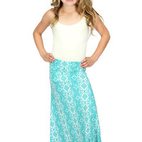 Lori & Jane Green/White Maxi Skirt | Mod Angel