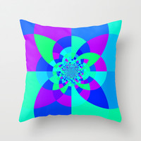 Cool Tone Kaleidoscope Throw Pillow by 2sweet4words Designs