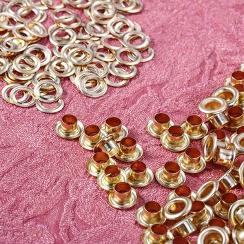 New Style 100pcs/lot Metal Eyelets Grommets 4mm for Leather Craft DIY Scrapbooking Shoes Fashion Practical Accessories