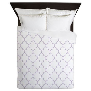 Duvet Cover - Lavender Duvet Cover - Quatrefoil Duvet Cover - Lavender Quatrefoil - Purple Duvet - Girls Bedding - Teen Duvet Cover - Purple