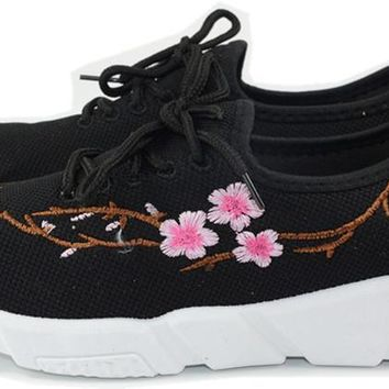 Knit Embroidery Shoes Espadrilles Sneakers Women Runway Shoes Woman Breathable Casual Shoes Women Flats Tenis Feminino Zapatos