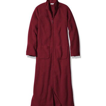 Women's Winter Fleece Robe, Zip-Front at L.L.Bean