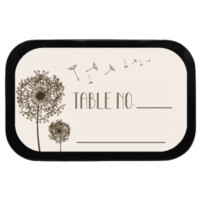 Flying Dandelions Personalized Wedding Placecards Mint Tins for Weddings, Parties, Floral Themed!