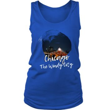 Chicago Skyline The Windy City Love Country Women's Tank