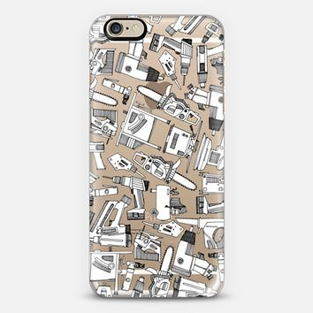 power tools black white iPhone 6 case by Sharon Turner | Casetify