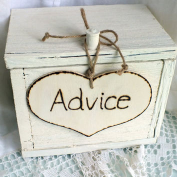 Wedding Advice Card Box A Rustic Wedding by ButterBeanVintage