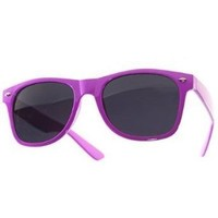 Amazon.com: 1980's Wayfarer Style Fashion Sunglasses with Dark Lens - Purple: Clothing
