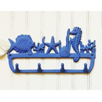 Sealife Wall Hook - Choose Your Color - Colorful Cast and Crew