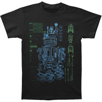 Star Wars Men's  Inside R2 T-shirt Black Rockabilia