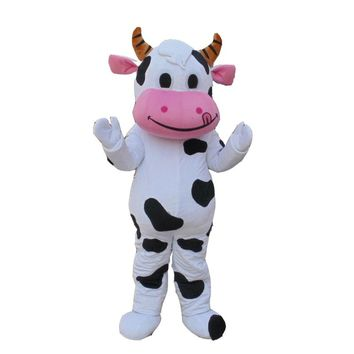 Dairy Cow Mascot costume Adult  Spotted Cow Mascot