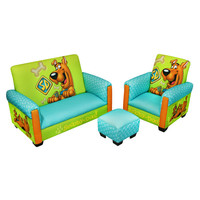 Komfy Kings, Inc 90132 Scooby Doo Deluxe Toddler Sofa, Chair and Ottoman