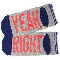 Word Socks - Yeah Right - Oatmeal
