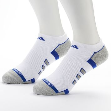 adidas 2-pack Climalite No-Show Socks - Men, Size: 6-12